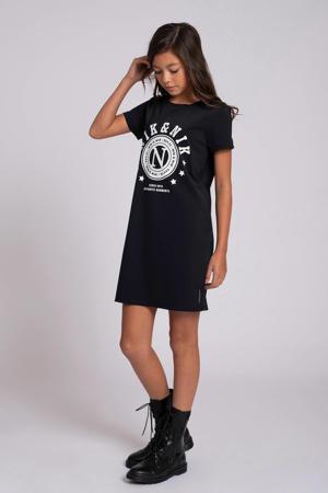 T-shirtjurk Galy met printopdruk zwart