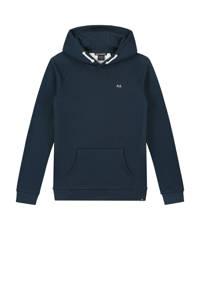 NIK&NIK hoodie Percy met tekst donkerblauw/wit, Donkerblauw/wit