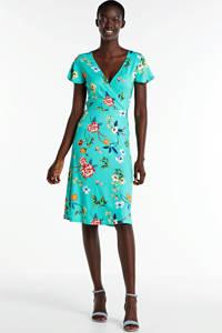 Smashed Lemon gebloemde jurk turquoise/multi, Turquoise/multi