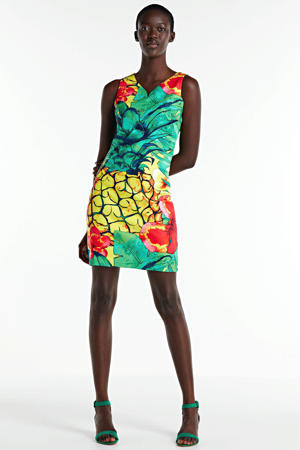 jurk met all over print multicolor
