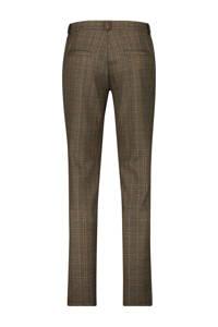 Haze & Finn geruite slim fit pantalon bruin, Bruin