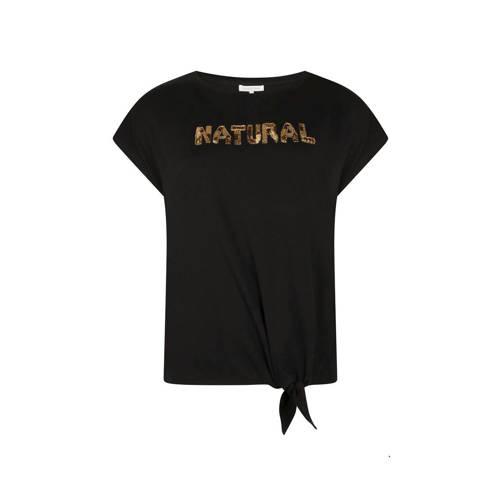 Tramontana T-shirt met tekst zwart