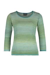 Claudia Sträter trui met all over print groen, Groen