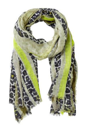 zijden sjaal khaki