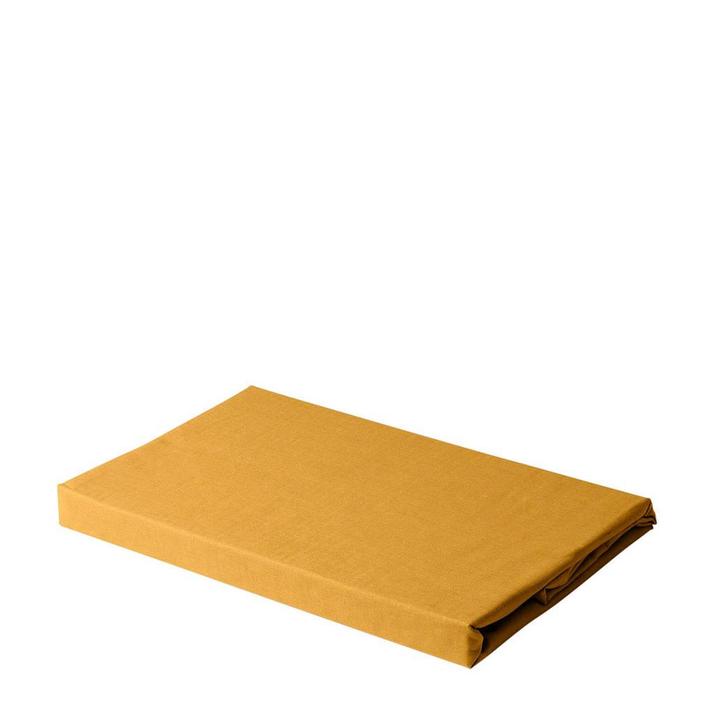 wehkamp home katoenen laken, Donker okergeel, 200x260 cm