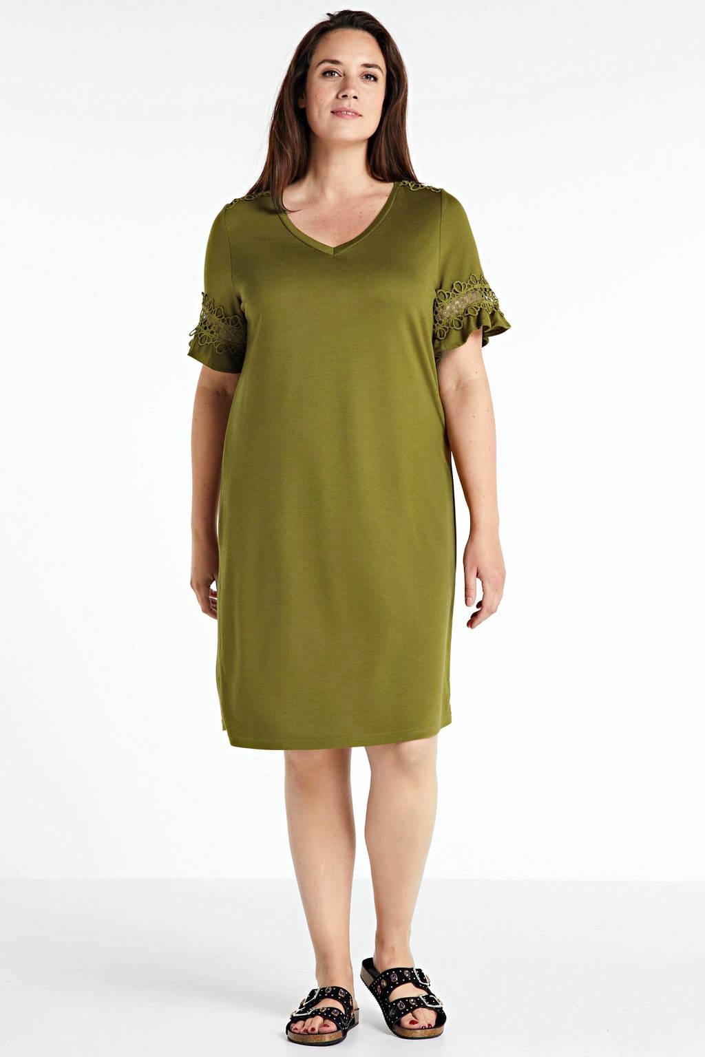 JUNAROSE jurk Sally met kant groen, Groen
