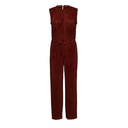 SELECTED FEMME jumpsuit donkerrood