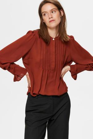 blouse donkerrood