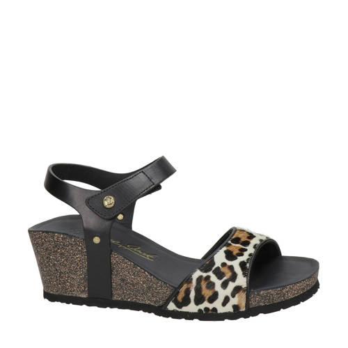Panama Jack Victory Leopard leren sandalettes pant