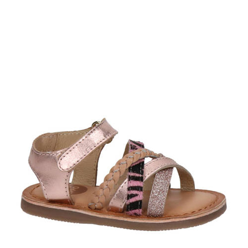 Gioseppo leren sandalen ros??goud