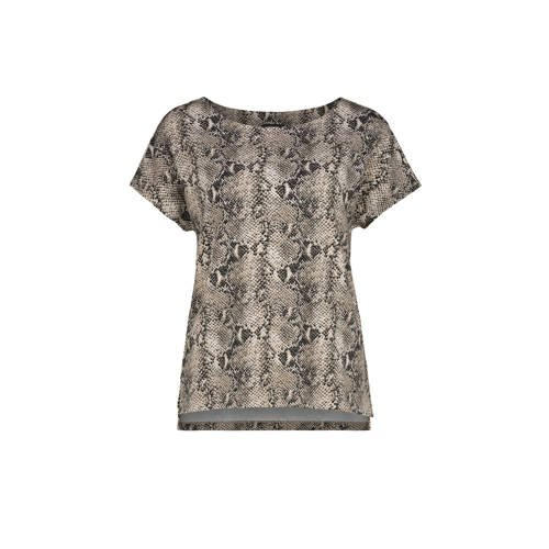 Claudia Str??ter T-shirt met slangenprint bruin