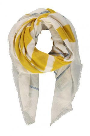 gestreepte sjaal geel/blauw
