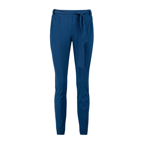 Expresso high waist slim fit pantalon Elke blauw