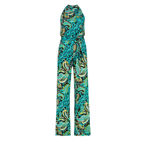 Claudia Str??ter jumpsuit met all over print aqua/