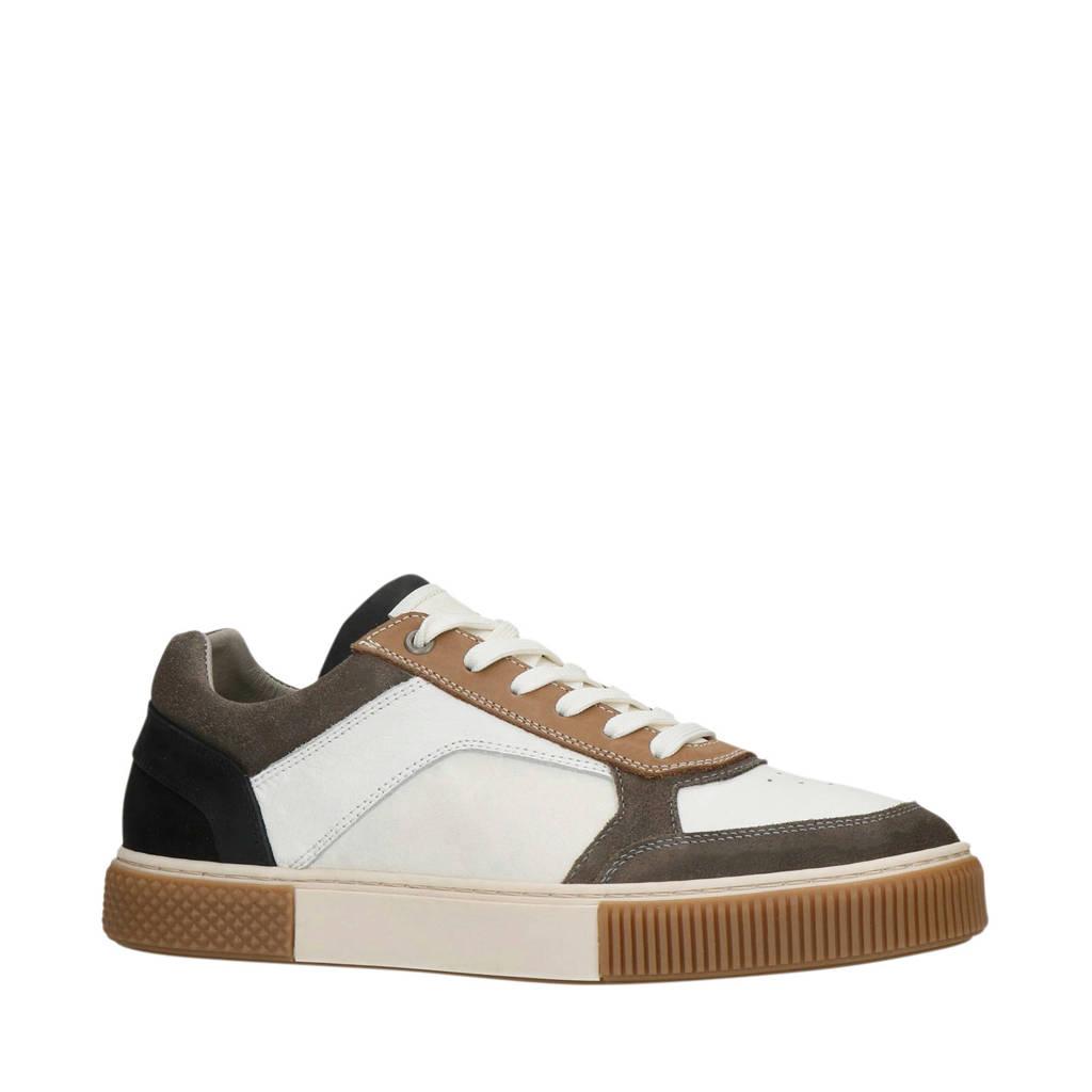 Sacha   leren sneakers wit/multi, Wit/multi