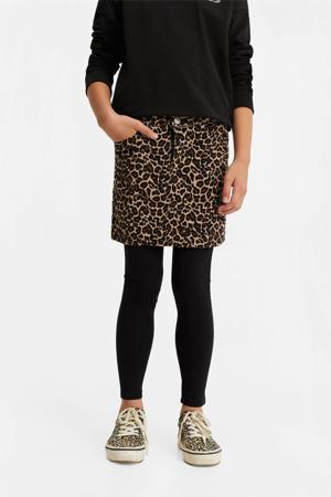 rok met panterprint bruin/zwart