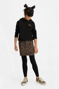 WE Fashion Blue Ridge rok met panterprint bruin/zwart, Bruin/zwart