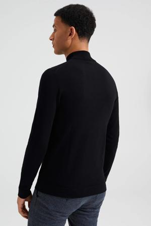WE Fashion gemêleerde fijngebreide coltrui zwart