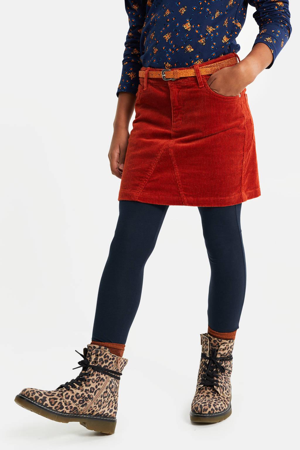 WE Fashion Blue Ridge corduroy rok rood, Rood
