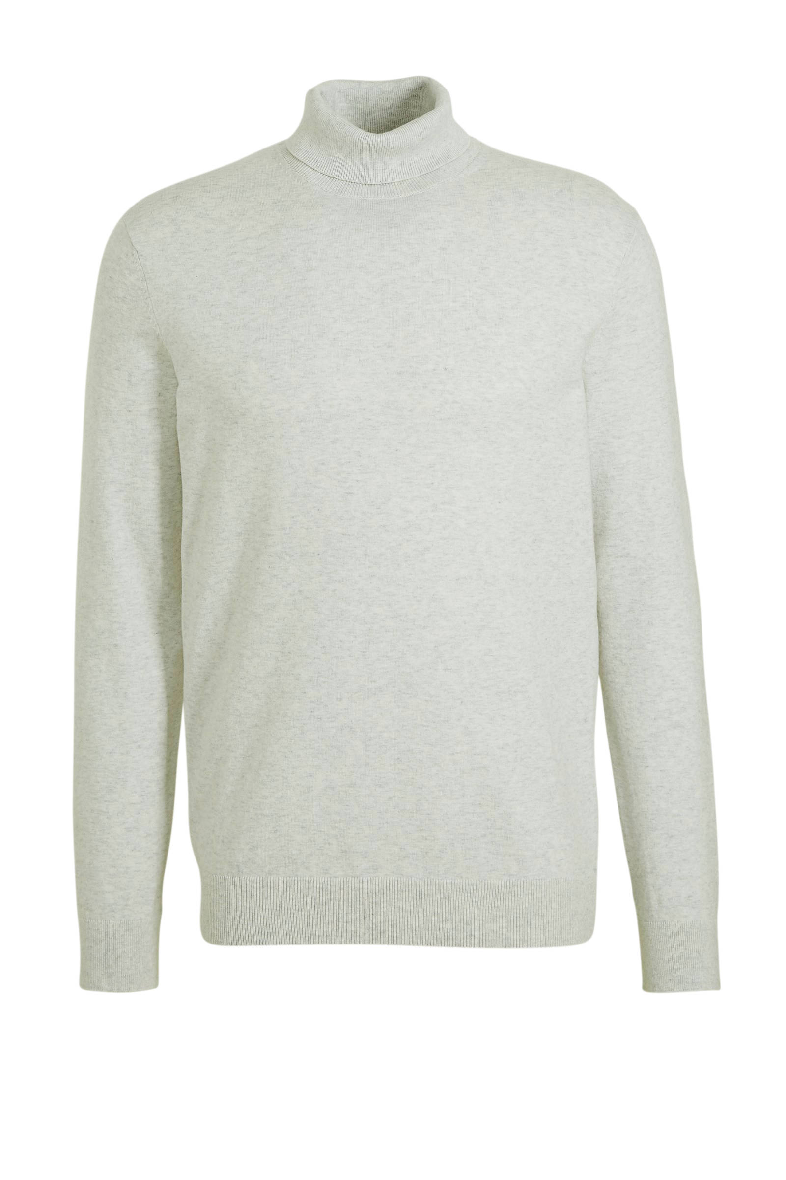 WE Fashion gemêleerde fijngebreide coltrui wit | wehkamp