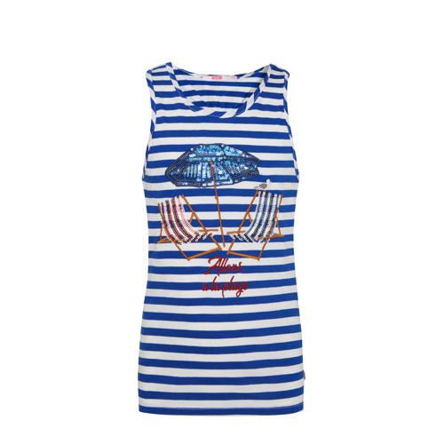 WE Fashion gestreepte singlet blauw/wit/rood