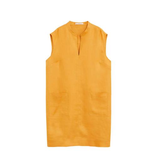 Violeta by Mango linnen jurk geel