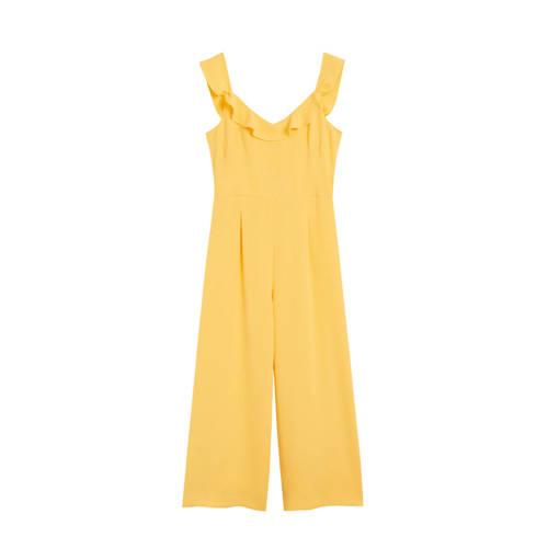 Mango jumpsuit geel