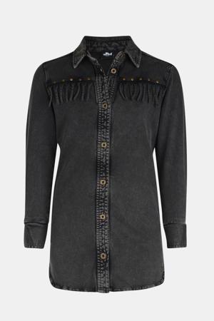 blousejurk Gwen met studs grijs