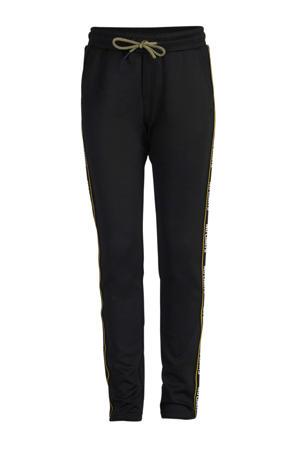 slim fit broek Martijn met zijstreep zwart