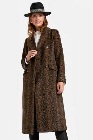coat met all over print bruin