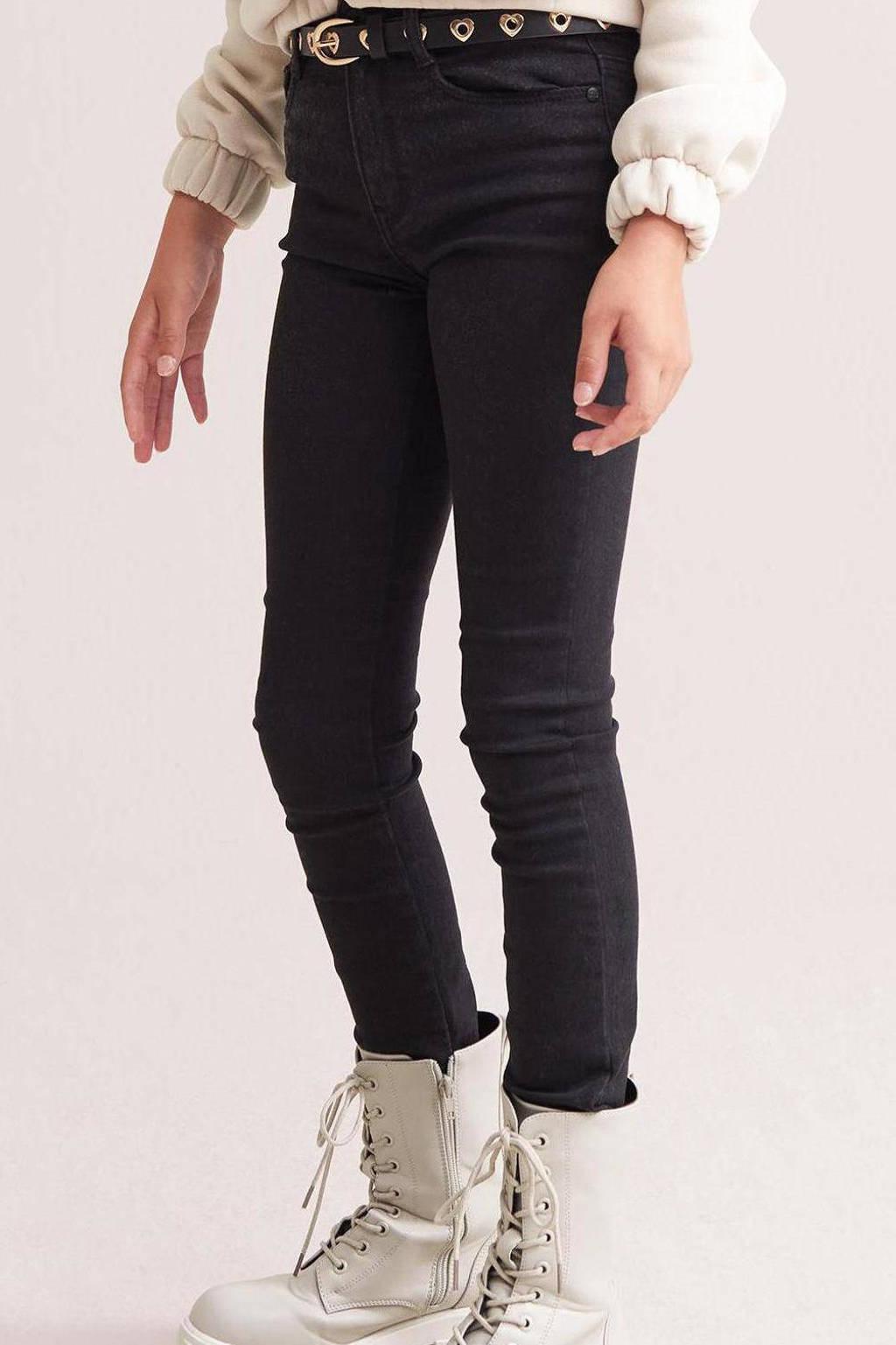 Shoeby Jill & Mitch high waist skinny jeans Raven zwart, Zwart