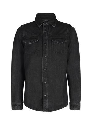 denim overhemd Percy zwart