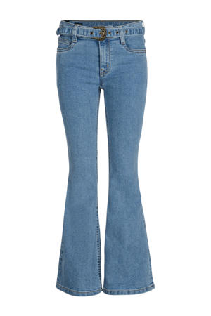 high waist flared jeans Mila light denim