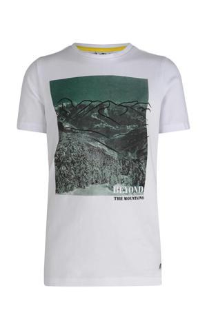 T-shirt Milan met printopdruk wit/groen