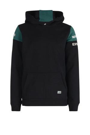 hoodie Maniel zwart/groen