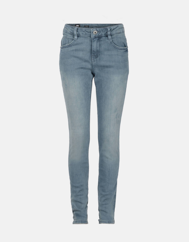 Jill & Mitch by Shoeby skinny jeans Brody met slijtage, Grijs