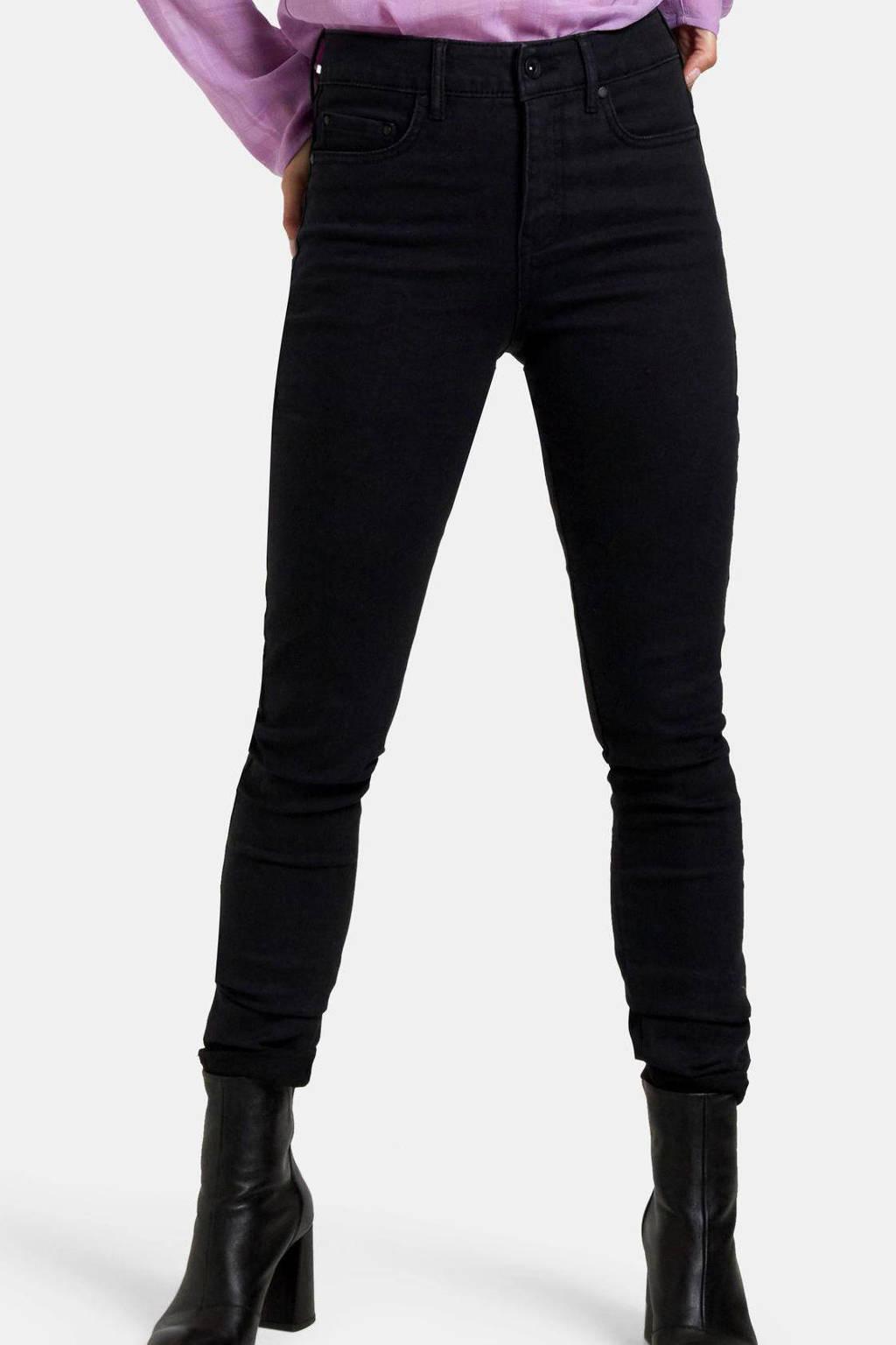 Shoeby Eksept high waist skinny fit broek Raven zwart, Zwart