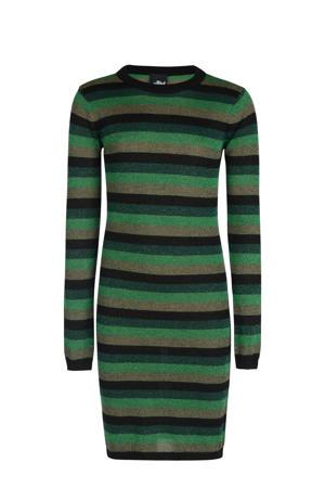 gestreepte jurk Marly groen/zwart