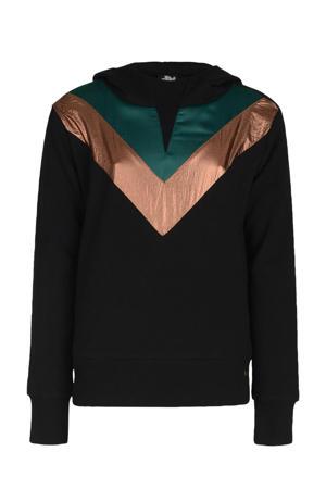 hoodie Georga zwart/groen/goud