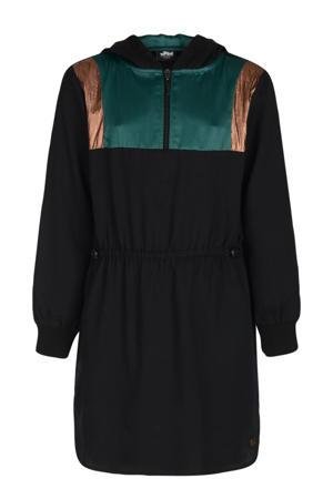 jurk zwart/groen/koper