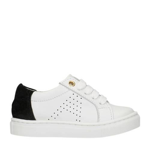 Manfield x Annic leren sneakers wit/zwart