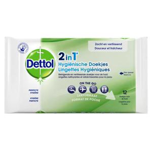 2in1 hygienische doekjes - 12 doekjes