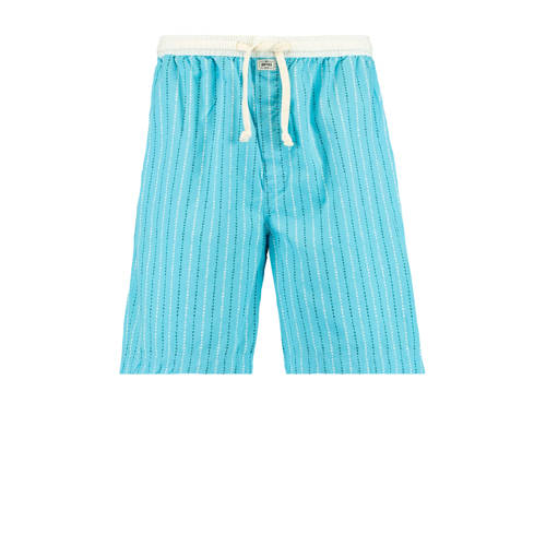 America Today gestreepte pyjamashort Lake lichtbla
