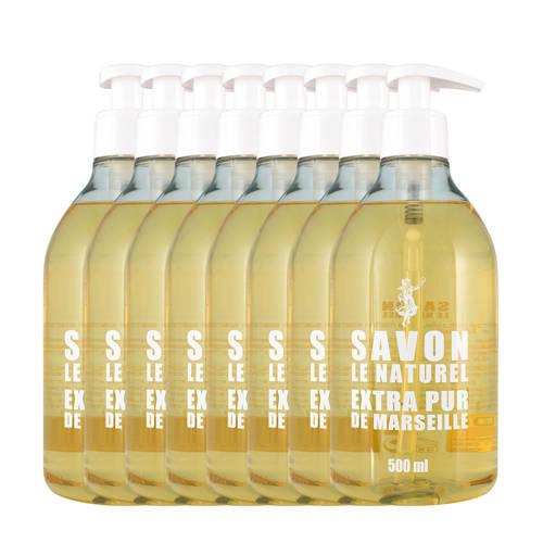 Savon le Naturel Extra Pur handzeep - 8x 500 ml