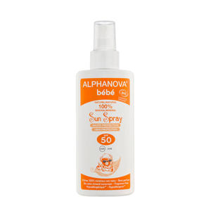 BIO zonnebrand SPF 50 Bebe Spray- 125 g