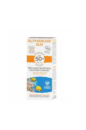 BIO zonnebrand SPF 50+ Tinted Cream Light sensitive skin - 50 g