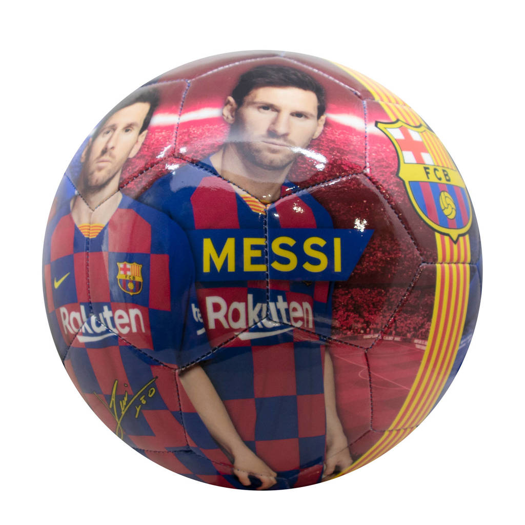 FC Barcelona   FC Barcelona voetbal groot shiny Messi maat 5, Blauw/rood