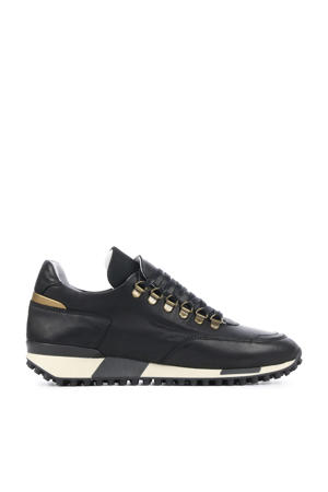 5412067  leren sneakers zwart