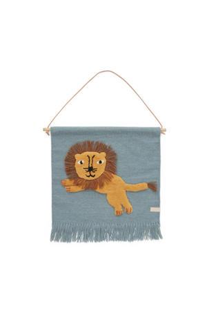 wandkleed Jumping Lion (55x52 cm)