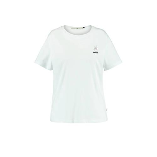America Today T-shirt Emanuela met printopdruk wit
